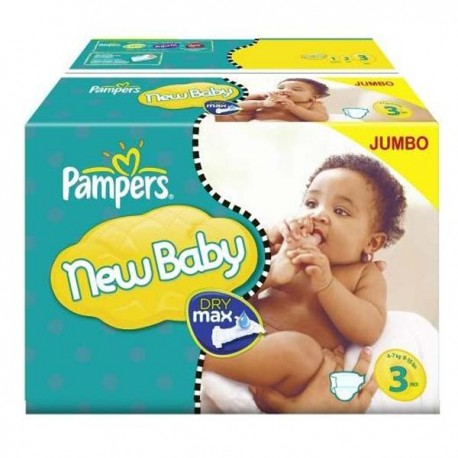 Pampers - Giga pack 220 Couches New Baby Premium Protection taille 3 sur Le roi de la couche