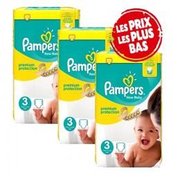 Pampers - Giga pack 260 Couches New Baby Premium Protection taille 3 sur Le roi de la couche