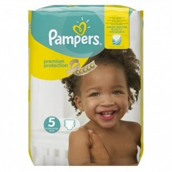 Pampers - Pack 68 Couches New Baby Premium Protection taille 5 sur Le roi de la couche