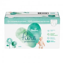 Pampers - Mega pack 196 Couches Pure Protection taille 4