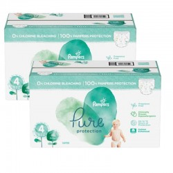 Pampers - Giga pack 252 Couches Pure Protection taille 4