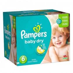 Pampers - Mega pack 192 Couches Baby Dry taille 6 sur Le roi de la couche