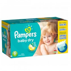 Pampers - Giga pack 288 Couches Baby Dry taille 6 sur Le roi de la couche
