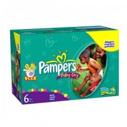 Pampers - Maxi mega pack 480 Couches Baby Dry taille 6 sur Le roi de la couche