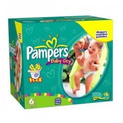 Pampers - Pack jumeaux 768 Couches Baby Dry taille 6 sur Le roi de la couche