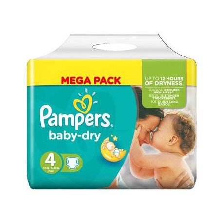 Pampers - Pack 25 Couches Baby Dry taille 4 sur Le roi de la couche