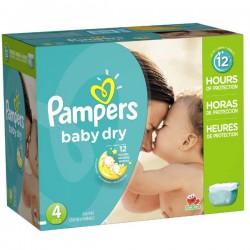 Pampers - Pack 50 Couches Baby Dry taille 4 sur Le roi de la couche