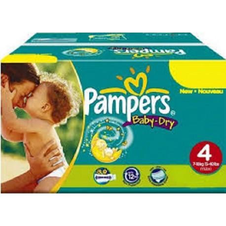 Pampers - Pack 75 Couches Baby Dry taille 4 sur Le roi de la couche