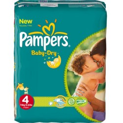 Pampers - Giga pack 200 Couches Baby Dry taille 4 sur Le roi de la couche