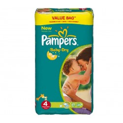 Pampers - Giga pack 225 Couches Baby Dry taille 4 sur Le roi de la couche