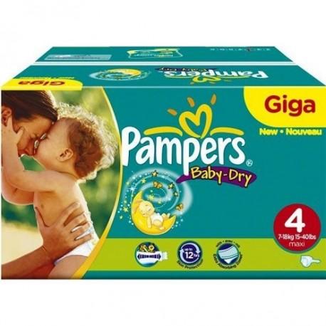 Pampers - Maxi giga pack 325 Couches Baby Dry taille 4 sur Le roi de la couche