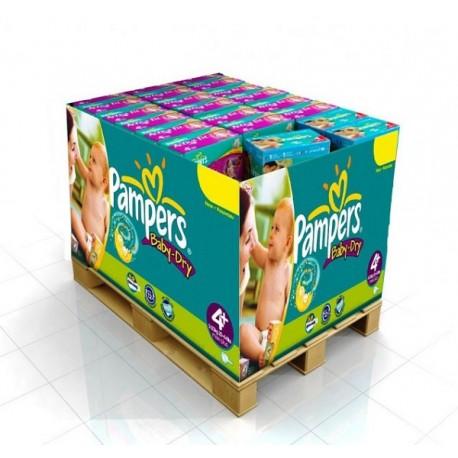 Pampers - Maxi mega pack 450 Couches Baby Dry taille 4 sur Le roi de la couche