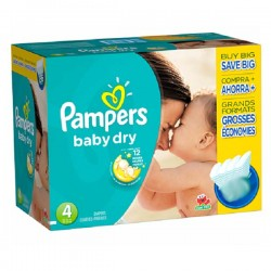 Pampers - Pack jumeaux 525 Couches Baby Dry taille 4