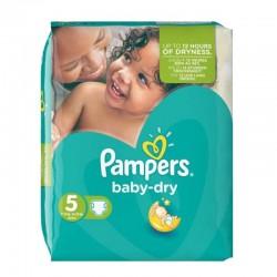 Pampers - Pack 31 Couches Baby Dry taille 5 sur Le roi de la couche
