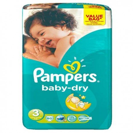 Pampers - Pack 30 Couches Baby Dry taille 3 sur Le roi de la couche