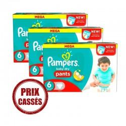 Pampers - Pack 90 Couches Baby Dry taille 3 sur Le roi de la couche