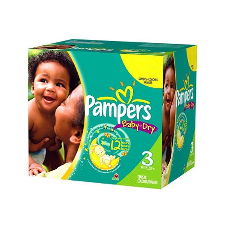 Pampers - Giga pack 210 Couches Baby Dry taille 3 sur Le roi de la couche