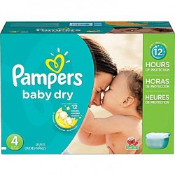 Pampers - Giga pack 294 Couches Baby Dry taille 4 sur Le roi de la couche