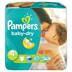 Pampers - Pack jumeaux 686 Couches Baby Dry taille 4