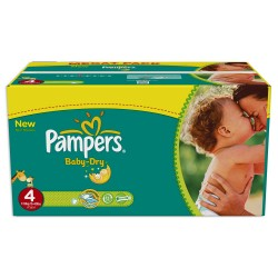 Pampers - Pack jumeaux 833 Couches Baby Dry taille 4