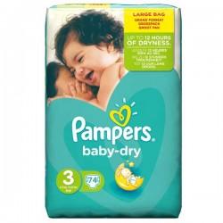 Pampers - Pack 95 Couches Baby Dry Pants taille 6 sur Le roi de la couche