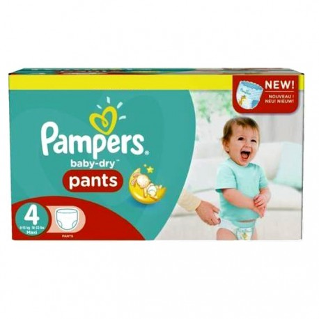 Pampers - Giga pack 246 Couches Baby Dry Pants taille 4 sur Le roi de la couche