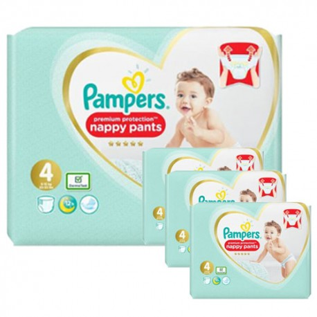 Pampers - Pack 94 Couches Premium Protection Pants taille 4 sur Le roi de la couche
