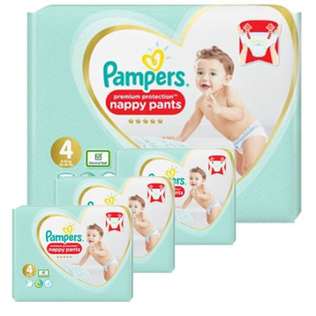 Pampers - Giga pack 235 Couches Premium Protection Pants taille 4 sur Le roi de la couche