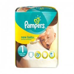 Pampers - Pack 22 Couches Premium Protection taille 1