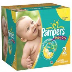 Pampers - Giga pack 242 Couches Premium Protection taille 1 sur Le roi de la couche