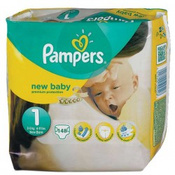 Pampers - Maxi giga pack 308 Couches Premium Protection taille 1