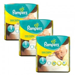 Pampers - Maxi giga pack 330 Couches Premium Protection taille 1