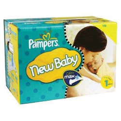 Pampers - Maxi giga pack 374 Couches Premium Protection taille 1
