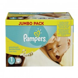 Pampers - Maxi mega pack 418 Couches Premium Protection taille 1