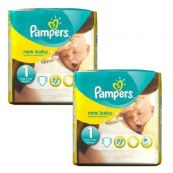 Pampers - Maxi mega pack 440 Couches Premium Protection taille 1