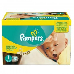 Pampers - Maxi mega pack 462 Couches Premium Protection taille 1