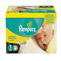 Pampers - Maxi mega pack 484 Couches Premium Protection taille 1