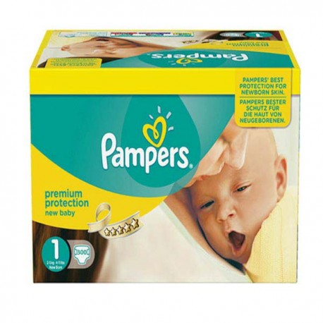 Pampers - Maxi mega pack 484 Couches Premium Protection taille 1 sur Le roi de la couche