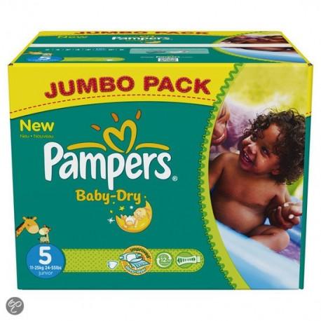 Pampers - Mega pack 124 Couches Active Baby Dry taille 3 sur Le roi de la couche