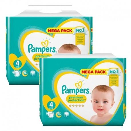 Pampers - Maxi giga pack 312 Couches Premium Protection taille 4 sur Le roi de la couche