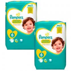 Pampers - Maxi mega pack 416 Couches Premium Protection taille 2 sur Le roi de la couche