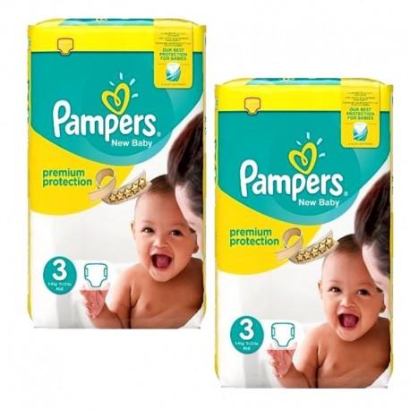Pampers - Maxi mega pack 408 Couches New Baby Premium Protection taille 3 sur Le roi de la couche