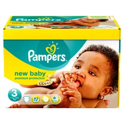 Pampers - Pack jumeaux 612 Couches New Baby Premium Protection taille 3