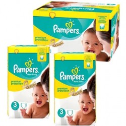 Pampers - Maxi giga pack 348 Couches Premium Protection taille 3