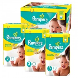 Pampers - Maxi giga pack 377 Couches Premium Protection taille 3