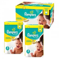 Pampers - Maxi mega pack 406 Couches Premium Protection taille 3