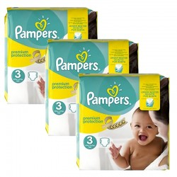 Pampers - Maxi mega pack 464 Couches Premium Protection taille 3