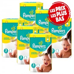 Pampers - Pack jumeaux 580 Couches Premium Protection taille 3