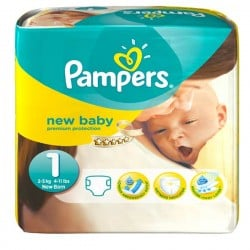 Pampers - Pack 56 Couches Premium Protection taille 1