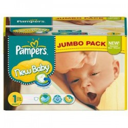 Pampers - Giga pack 224 Couches Premium Protection taille 1